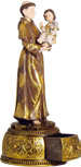 "St. Anthony of Padua (San Antonio de Padua) 10.5"" Statue - Two Piece with Drawer Base"