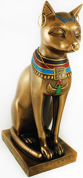 "Traditional Bast (Bastet) Cat 12"" Statue"