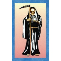 Santa Muerte/Holy Death Prayer Card (Black)