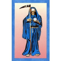 Santa Muerte/Holy Death Prayer Card (Blue)
