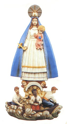 "Our Lady of Charity (Caridad del Cobre) 12"" Statue"
