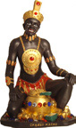 "Seated Chango Macho 22"" Statue"