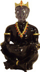 "Seated Chango Macho 9"" Statue"