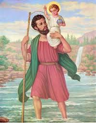 St. Christopher (San Cristobal) Chromolith