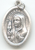 St. Clare of Messina (Santa Clara) Medal