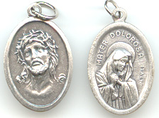 Our Lady of Sorrows/Mother of Sorrows/Our Lady of Mount Calvary (Mater Dolorosa del Monte Calvario) Medal