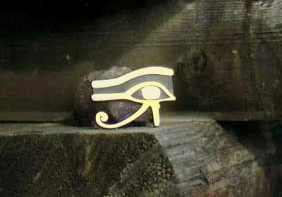 "GOLDTONE Udjat ""Eye of Horus"" Car Decal"