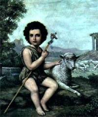 St. John the Baptist (San Juan Baptista) (Child) Chromolith