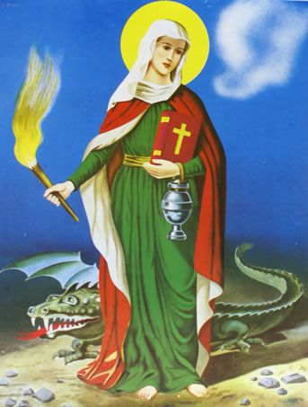 St. Martha the Dragonslayer (Santa Marta) Chromolith