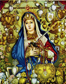 Our Lady of Sorrows (Mater Dolorosa) Chromolith (Gold)