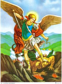 St. Michael (Miguel) Archangel Chromolith (version 1)
