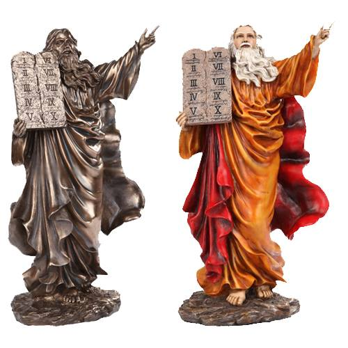 "Moses 10"" Deluxe Statue (Painted Resin)"