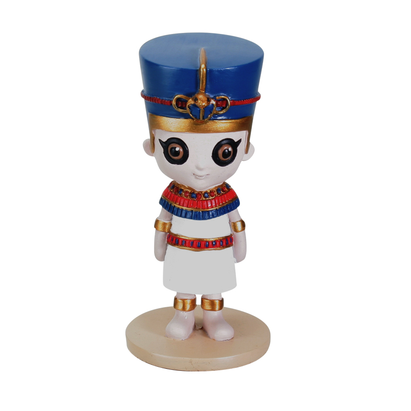"Nefertiti Wee-gyptian 4.25"" Statue - Click Image to Close"