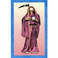 Santa Muerte/Holy Death Prayer Card (Pink)