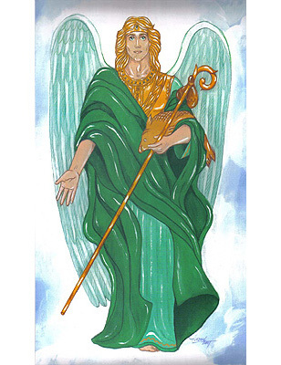 St. Raphael Archangel Chromolith (version 2)