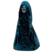 "Santa Muerte (Holy Death) 1.5"" mini statue - blue"