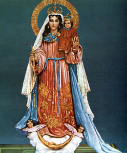 Our Lady of the Thunderbolt (Virgen del Rayo) Chromolith