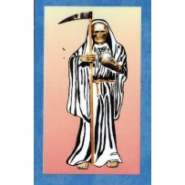 Santa Muerte/Holy Death Prayer Card (White)