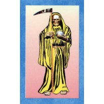 Santa Muerte/Holy Death Prayer Card (Yellow)